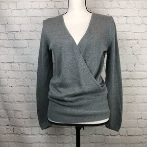 Gap Factory Wrap Front Sweater